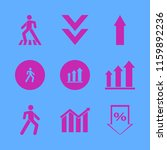 graph vector icons set. with up ... | Shutterstock .eps vector #1159892236