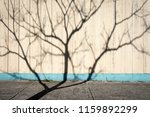 the shadow of a skeletal tree... | Shutterstock . vector #1159892299