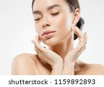 asian beauty woman skin care... | Shutterstock . vector #1159892893