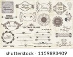 calligraphic vintage vector... | Shutterstock .eps vector #1159893409