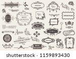 calligraphic vintage vector... | Shutterstock .eps vector #1159893430