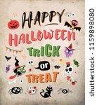 happy halloween. vector... | Shutterstock .eps vector #1159898080