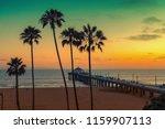 california beach at sunset  los ... | Shutterstock . vector #1159907113