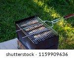 fillet of mackerel  fried on a... | Shutterstock . vector #1159909636