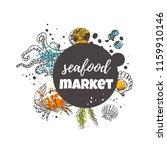seafood market concept design....   Shutterstock .eps vector #1159910146