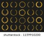 golden vector laurel wreaths on ... | Shutterstock .eps vector #1159910200