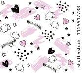 splash  heart and stars on a... | Shutterstock .eps vector #1159917733