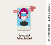 automated online assistant. a... | Shutterstock .eps vector #1159920310