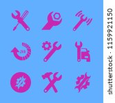 wrench vector icons set. with... | Shutterstock .eps vector #1159921150