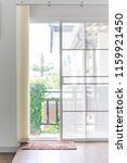 light white curtain and brown... | Shutterstock . vector #1159921450