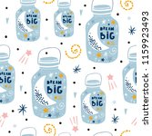 childish seamless pattern with... | Shutterstock .eps vector #1159923493