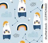 seamless pattern with cute... | Shutterstock .eps vector #1159924660