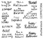 set of halloween inscriptions | Shutterstock .eps vector #1159927306