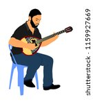 bouzouki player vector... | Shutterstock .eps vector #1159927669