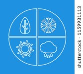 graphic simple four seasons...   Shutterstock .eps vector #1159931113