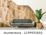 white and wooden geometric wall ... | Shutterstock . vector #1159931833