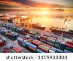 logistics and transportation of ... | Shutterstock . vector #1159933303
