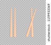 food chopsticks set | Shutterstock .eps vector #1159933369