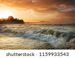 beautiful tropical pacific... | Shutterstock . vector #1159933543