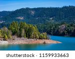 detail of lost creek lake, a reservoir on the Rogue River in Southern Oregon