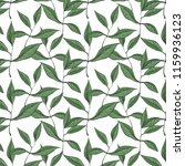 vector pattern with green ... | Shutterstock .eps vector #1159936123