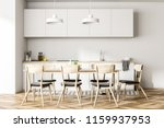 dining room and kitchen... | Shutterstock . vector #1159937953