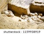 xian   jun 30 terracotta army... | Shutterstock . vector #1159938919