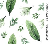 seamless hand drawn botanical ... | Shutterstock . vector #1159939000