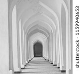 white arabian arches in kolon... | Shutterstock . vector #1159940653
