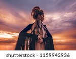 silhouette of elegant woman on... | Shutterstock . vector #1159942936