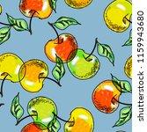 apple seamless pattern.... | Shutterstock . vector #1159943680