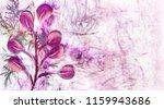 watercolor leaves pattern. hand ... | Shutterstock . vector #1159943686