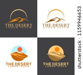 isolated abstract desert logo... | Shutterstock .eps vector #1159946653