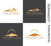 isolated abstract desert logo... | Shutterstock .eps vector #1159946656