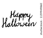 happy halloween inscriptions | Shutterstock .eps vector #1159949860