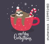 merry christmas card with cute... | Shutterstock .eps vector #1159951483