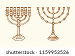 old judaic chanukah heritage... | Shutterstock .eps vector #1159953526