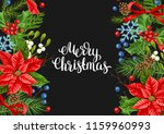 greeting card with winter... | Shutterstock .eps vector #1159960993