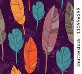 seamless feather pattern   Shutterstock .eps vector #115996399