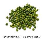 green peppercorns isolated on... | Shutterstock . vector #1159964050