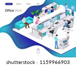group of people in the office... | Shutterstock .eps vector #1159966903