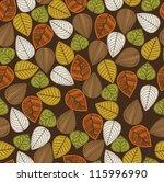 foliage pattern design. vector...