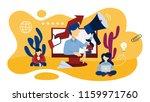 online pr concept. idea of... | Shutterstock .eps vector #1159971760