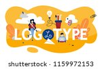 logotype concept illustration.... | Shutterstock .eps vector #1159972153