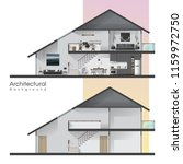 house cross section with... | Shutterstock .eps vector #1159972750