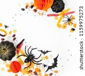 halloween holiday frame with... | Shutterstock . vector #1159975273