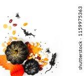 halloween holiday background... | Shutterstock . vector #1159975363