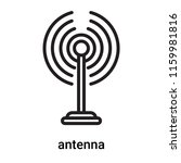 antenna icon vector isolated on ... | Shutterstock .eps vector #1159981816