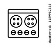 stove icon vector isolated on... | Shutterstock .eps vector #1159982833