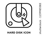 hard disk icon vector isolated... | Shutterstock .eps vector #1159985383